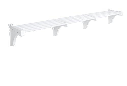 EZ Shelf - Expandable Garage Shelf Up to 63 ft of Storage Space  White