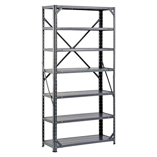 Gracelove US Stock 60X30 7 Shelf Adjustable Steel Shelving Unit Heavy Duty 750 lb Metal Storage Shelf Rack Garage