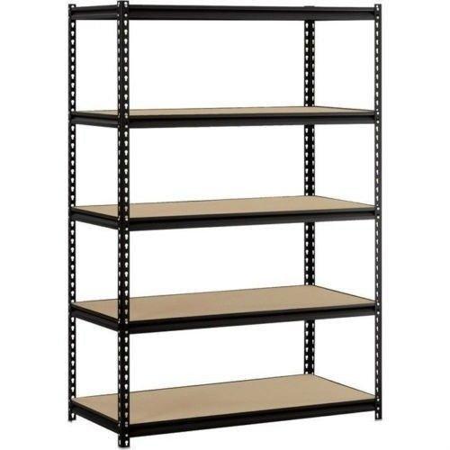 Heavy Duty Garage Shelf Steel Metal Storage 5 Level Adjustable Shelves Unit 72 H x 48 W x 24 Deep
