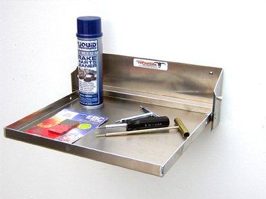 Pit Posse 609 Work Station Fold Flip Out Aluminum Tray Cabinet Car Trailer Shop Garage Shelf