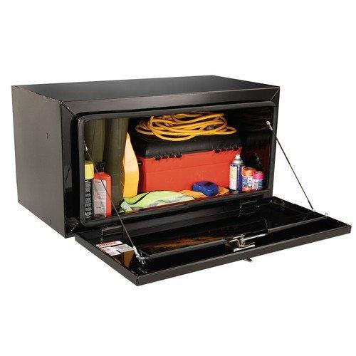 JOBOX 727980 24 in Long Heavy-Gauge Steel Underbed Truck Box Black