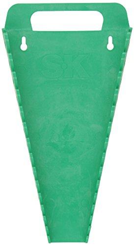 SK Hand Tools 1074 15 Slot SureGrip Combination Wrench Rack Green