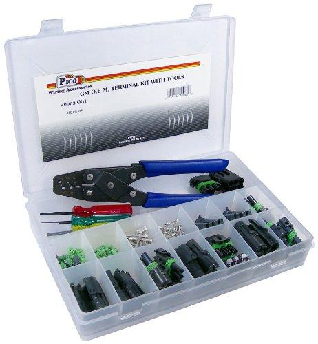 Pico 0003-OG1 160 Piece General Motors Weatherpack Electrical Terminal Kit wTools