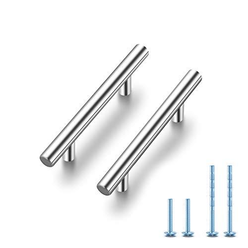 Ravinte 30 Pack 5 Cabinet Pulls Brushed Nickel Stainless Steel Kitchen Drawer Pulls Cabinet Handles 3 Hole Center