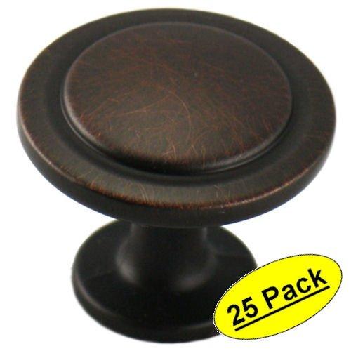 Cosmas 5560ORB Oil Rubbed Bronze Cabinet Hardware Round Knob - 1-14 Diameter - 25 Pack