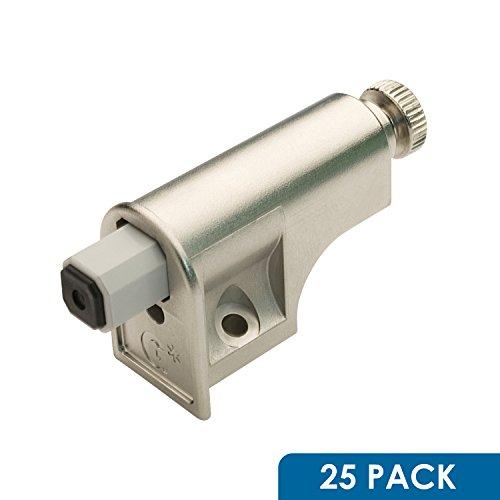 Rok Hardware 25 Pack Soft Close Damper for Cabinet Doors  Compact  Soft Close Adapter  Hardware  Nickel  Hinge