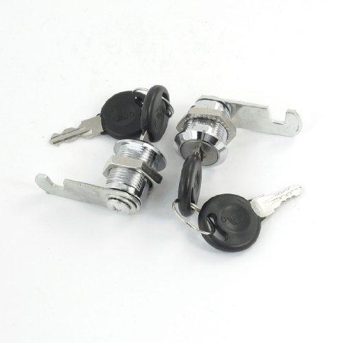uxcell 2 Pcs Tool Box Cabinet Locking 185mm Dia Thread Cylinder Cam Lock  Keys