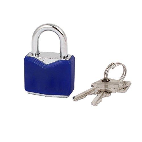 uxcell Tool Box Cabinet 35mmx25mmx14mm Safety Metal Locker Padlock w Keys