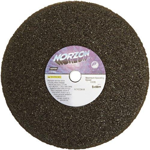 Norton NorZon III Portable Snagging Abrasive Wheel Type 01 Straight Zirconia Alumina 58 Arbor 8 Diameter 1 Thickness Pack of 5