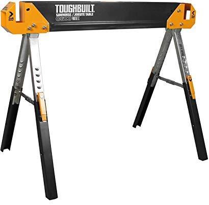 ToughBuilt Folding SawhorseJobsite Table - Sturdy Durable Lightweight Heavy-Duty 100 High Grade Steel 1300lb Capacity Easy Carry Handle TB-C600