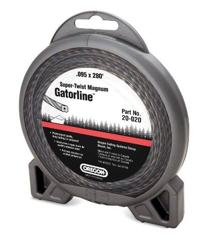 Oregon 20-020 Super-Twist Magnum Gatorline String Trimmer Line 095-Inch Diameter 1-Pound Donut