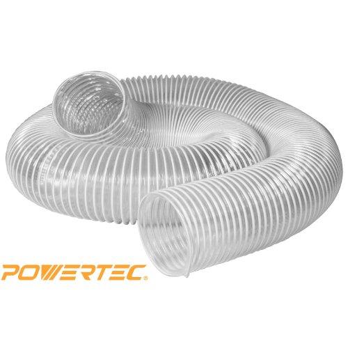 POWERTEC 70143  4-Inch x 20-Feet Flexible PVC Dust Collection Hose Clear Color
