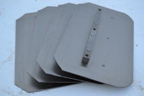 Set of 4 Power Trowel Combo Blades Fits Allen Whiteman Bartell Wacker 8 x 14 36