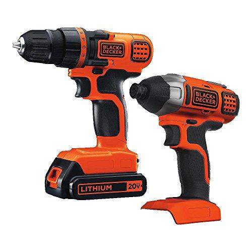 BLACKDECKER 20V MAX Cordless Drill Combo Kit 2-Tool BD2KITCDDI