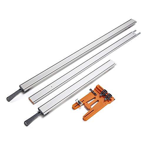 Bora WTX Clamp Edge 4 Pc Set 50  24 Clamp Edges  50 Extension  Saw Plate 543410