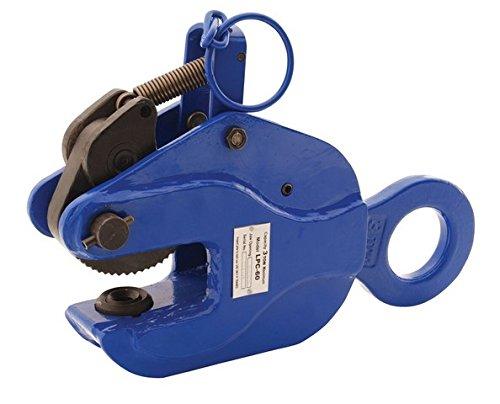 Vestil LPC-60 Positive Locking Plate Clamp 15 Length x 4 Width 6000 lb Capacity Blue