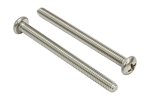 8-32 X 1-34 Stainless Pan Head Phillips Machine Screw 25 pc 18-8 304 Stainless Steel Screw by Bolt Dropper