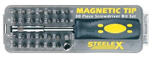 Steelex D2032 Magnetic Tip Screwdriver Bit Set 30-Piece