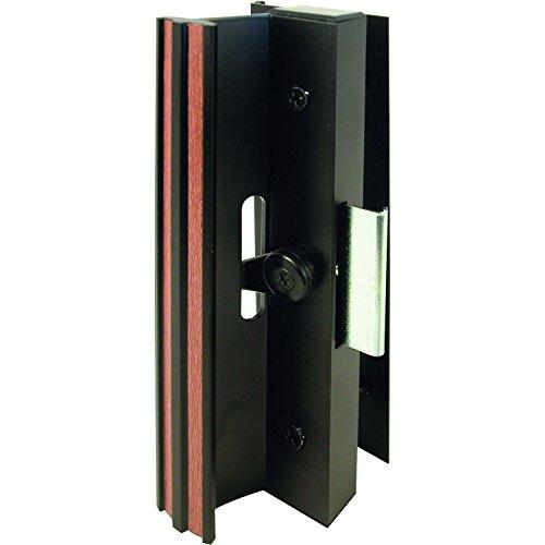 Slide-Co 141311 Sliding Patio Door Handle Set 4-1516 in Extruded Aluminum Clamp Latch Black wWood Grain