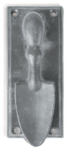 Esschert Design USA 8361 Secrets du Potager Garden Shovel Door Knocker Grey Finish