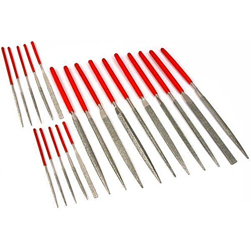 20 Diamond Coated Needle Files Jewelers Filing Tools