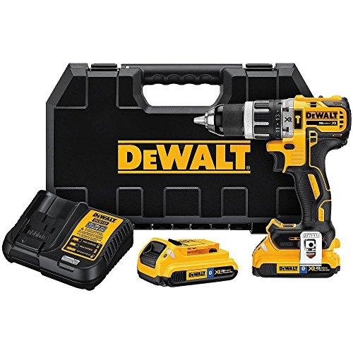 DEWALT DCD796D2BT 20V MAX XR Li-Ion 20Ah Bluetooth 05 Compact Hammer drill Kit