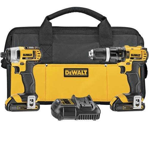DEWALT DCK285C2 20-Volt MAX Li-Ion Compact 15 Ah Hammer Drill and Impact Combo Kit