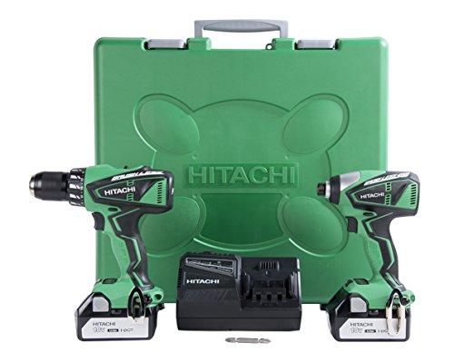 Hitachi KC18DBFL 18-Volt Lithium-Ion Brushless Hammer Drill Impact Driver Combo Kit 30Ah
