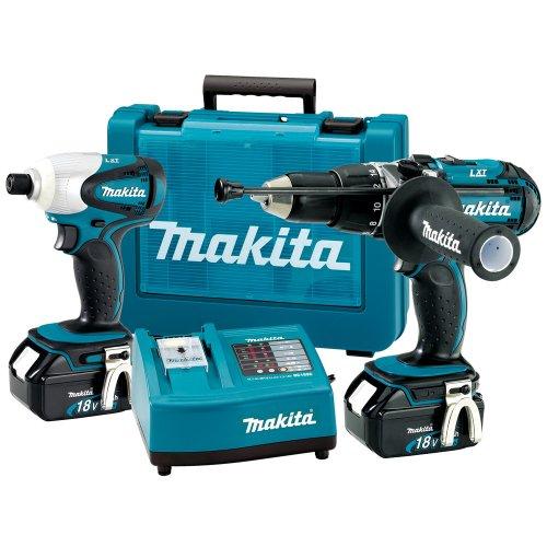 Makita LXT202 18-Volt Hammer Drill Impact Driver Lithium-Ion Combo Kit