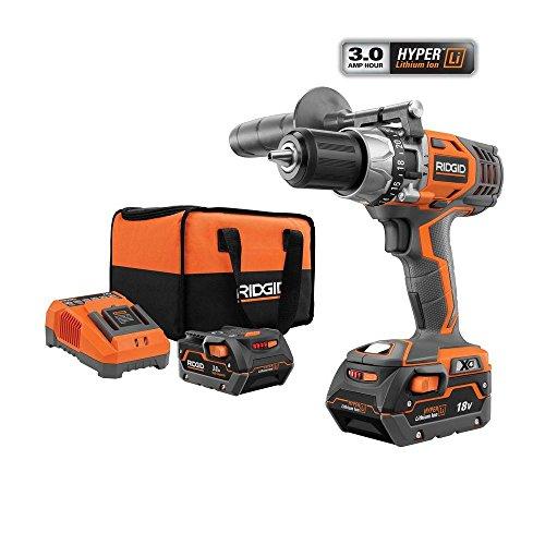 RIDGID Hyper-Lithium X4 12 in 18-Volt Hammer Drill Kit