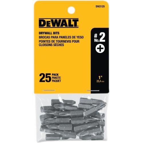 DEWALT DW2125 2 Phillips Drywall Bit Tip 25-Pack