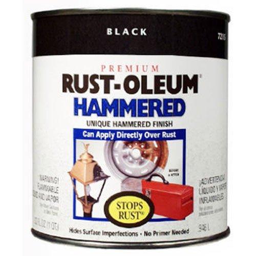 Rust-Oleum 7215502 Hammered Metal Finish Black 1-Quart