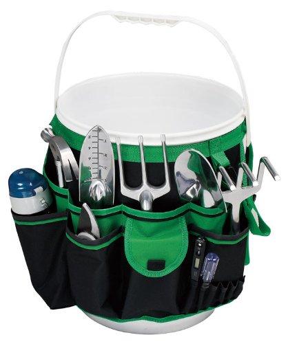 Bucket Garden Tool Organizer - GreenBlack