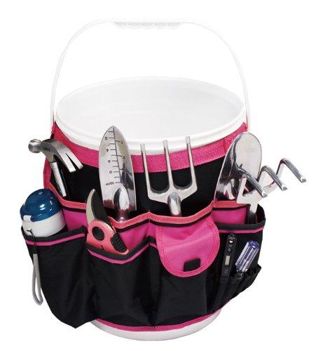 Pink Strong Bucket Garden Tool Organizer PinkBlack