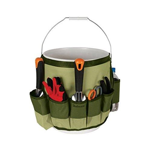 ShellvcaseTM Garden Bucket Caddy 5-gallon 10 Deep Pockets Bucket Garden Tool Organizer
