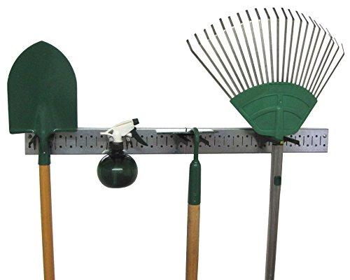Wall Control 30-GPS-0332 GVB Metal Pegboard Strip Garden Tool Organizer Rail Kit Black