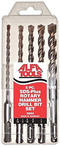 Alfa Tools SDS5 Sds-Plus Hammer Drill Bit Set 5 Piece