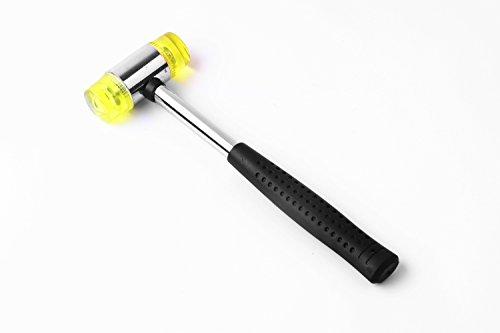 JackeyAwesome 50-1B029 25mm Rubber-headed Hammer Steel Handle Installation