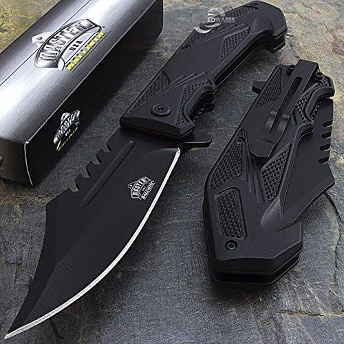Bacchus Star 85 MASTER USA SPRING ASSISTED TACTICAL FOLDING POCKET KNIFE Blade Open Assist