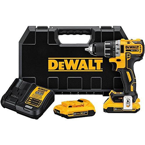 DEWALT DCD791D2 20V MAX XR Li-Ion 05 20Ah Brushless Compact DrillDriver Kit