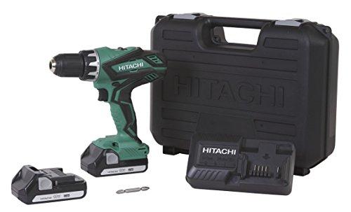 Hitachi DS18DGL 18-Volt Cordless Lithium-Ion 12 Inch Compact Drill Driver Kit Lifetime Tool Warranty