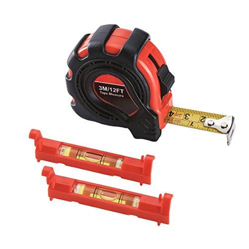 FAST F00300 3-piece Measuring Tool Set including Rubberized 3M Tape Measure 2-piece mini Line Levels