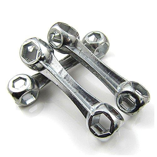 MeanHoo Dog Bone Mini Pocket Hexagon Wrench Multi-Tool Keychain 10-in-1 Hand Tool - Great Promotion