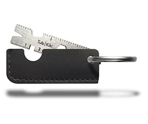 Onehundred 100070202 Kiki Titanium Key Ring Multi-tool Black Leather