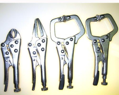 4pc VICE GRIP TYPE Mini Locking Pliers Set HIGH-CARBON STEEL by 4137com