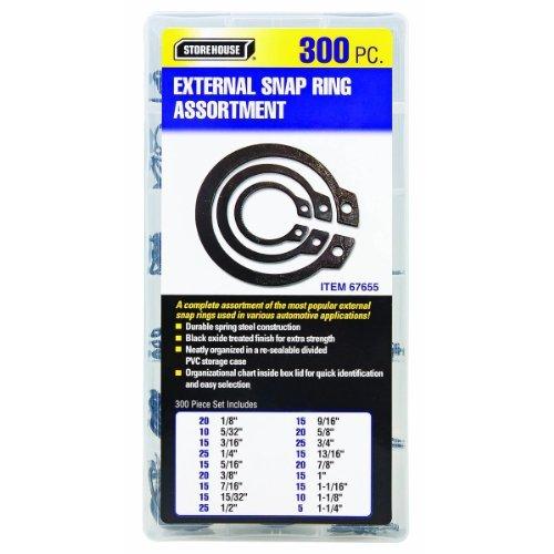 300 Piece External Retaining Ring Assortment from TNM