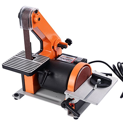 GoplusBelt and 5-Inch Disc Sander 1 x 30-Inch 13HP Polish Grinder Sanding Machine