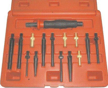 T E Tools 15Pc Brass Steel Drift Punch Set
