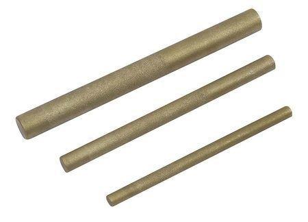 Westward 2ajl3 Brass Drift Punch Set 38 12 34 In 3pc