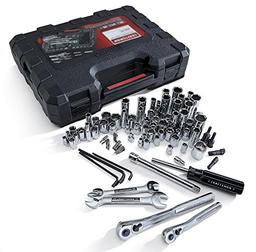 Craftsman 108 Pc Mechanics Tools Set with Quality 6-point Socket Wrenches and Accessories One 14 Drive Quick Release Ratchet